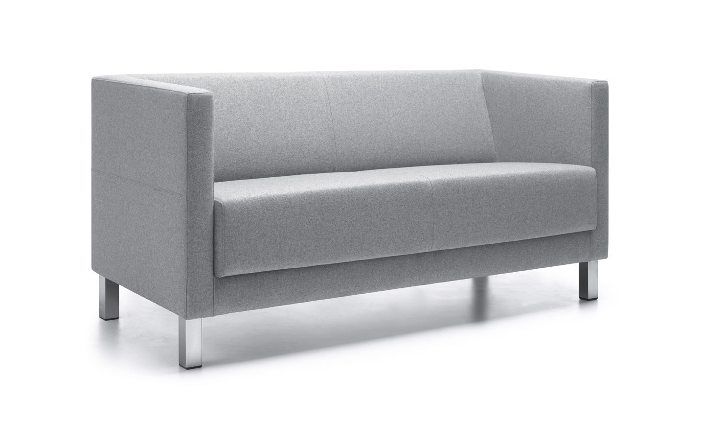 Contemporary Sofa Vancouver Lite Profim Metal Fabric Contract