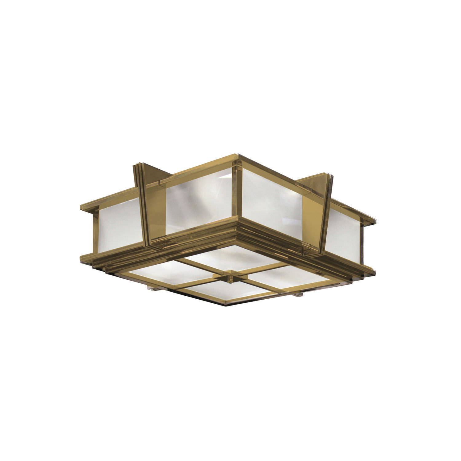 Art Deco Deckenleuchte Art Deco Ceiling Light - L002 - Sky Ii - Cygal Art Deco Gmbh & Co. Kg - Square / Glass / Brass
