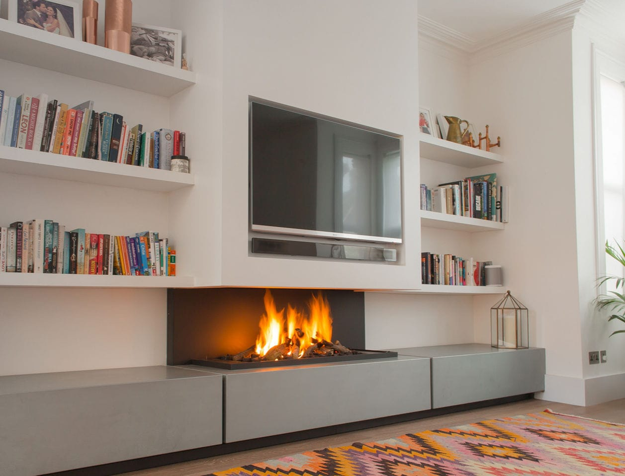 Wall Fireplace Gas Bioethanol Fireplace Gas Electric Contemporary 572 Modus