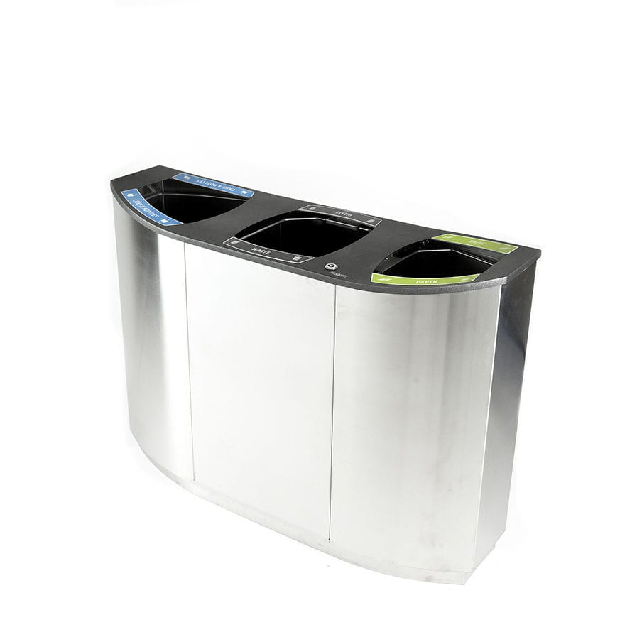Stainless Steel Recycling Bins Public Trash Can Stainless Steel Galvanized Steel Recycling