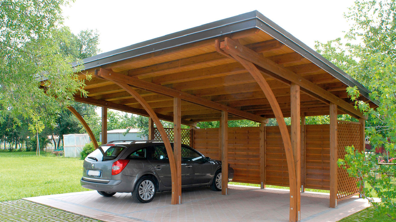Karpot Wooden Carport - Roofcar - Greendesign - Commercial
