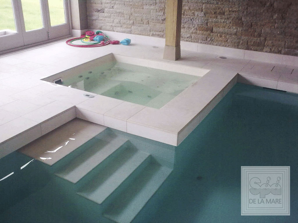 Jacuzzi Pool De In Ground Swimming Pool Concrete Indoor For Hydrotherapy