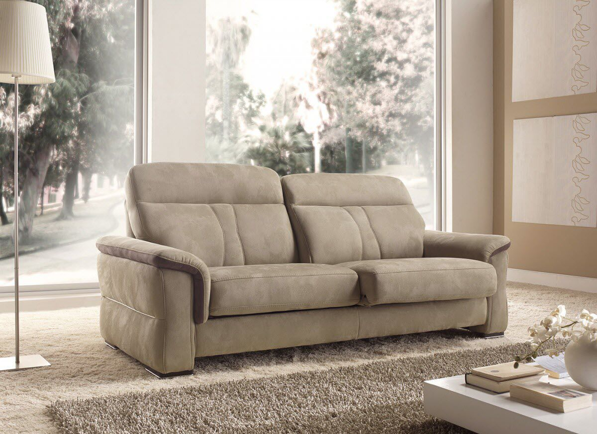 Contemporary Sofa Sherwood Vama Divani Fabric 2 Person 3 Seater