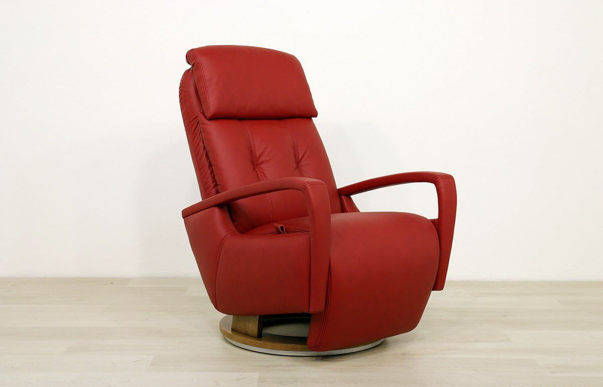 Divani Recliner Chair Contemporary Armchair Leather With Headrest With Footrest