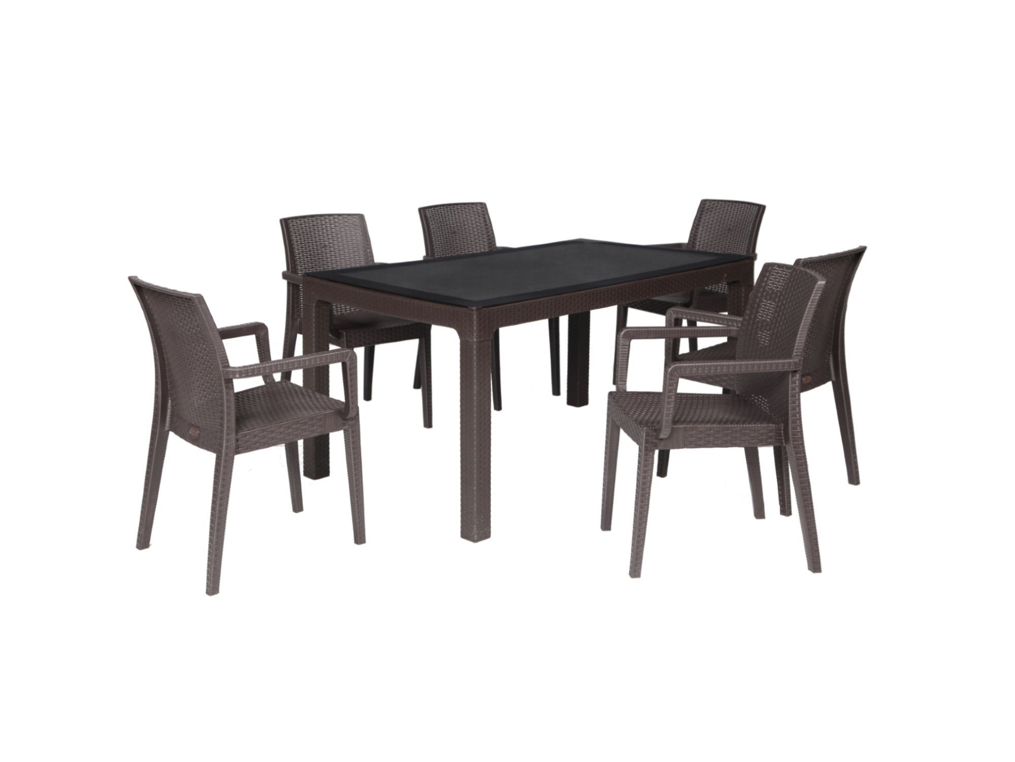 Contemporary Table And Chair Set Siena Arizona YÜcel Outdoor - Sedia Bistrot Polyrattan