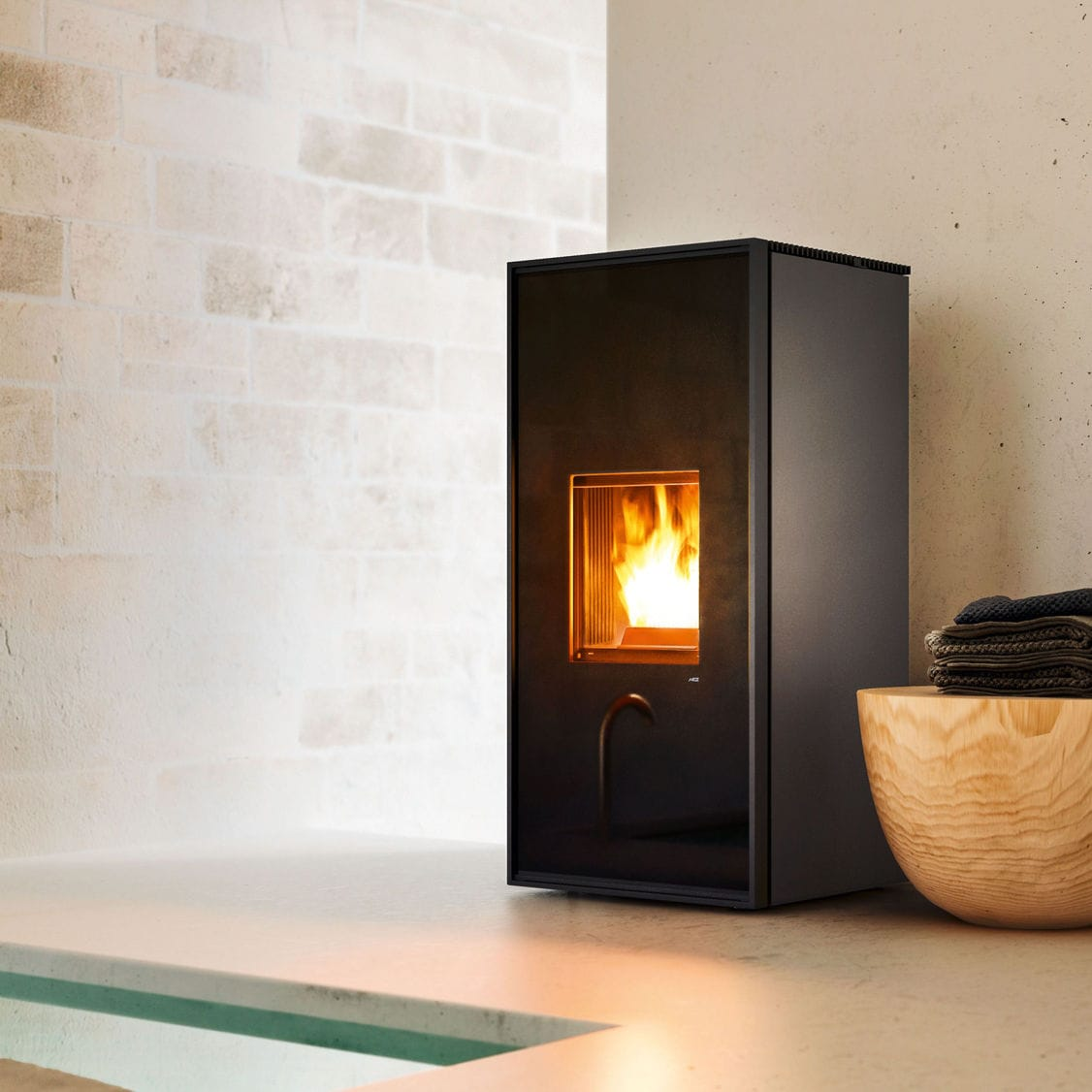 Mcz Cute Pellet Heating Stove Contemporary Steel Cast Iron Tilda Mcz
