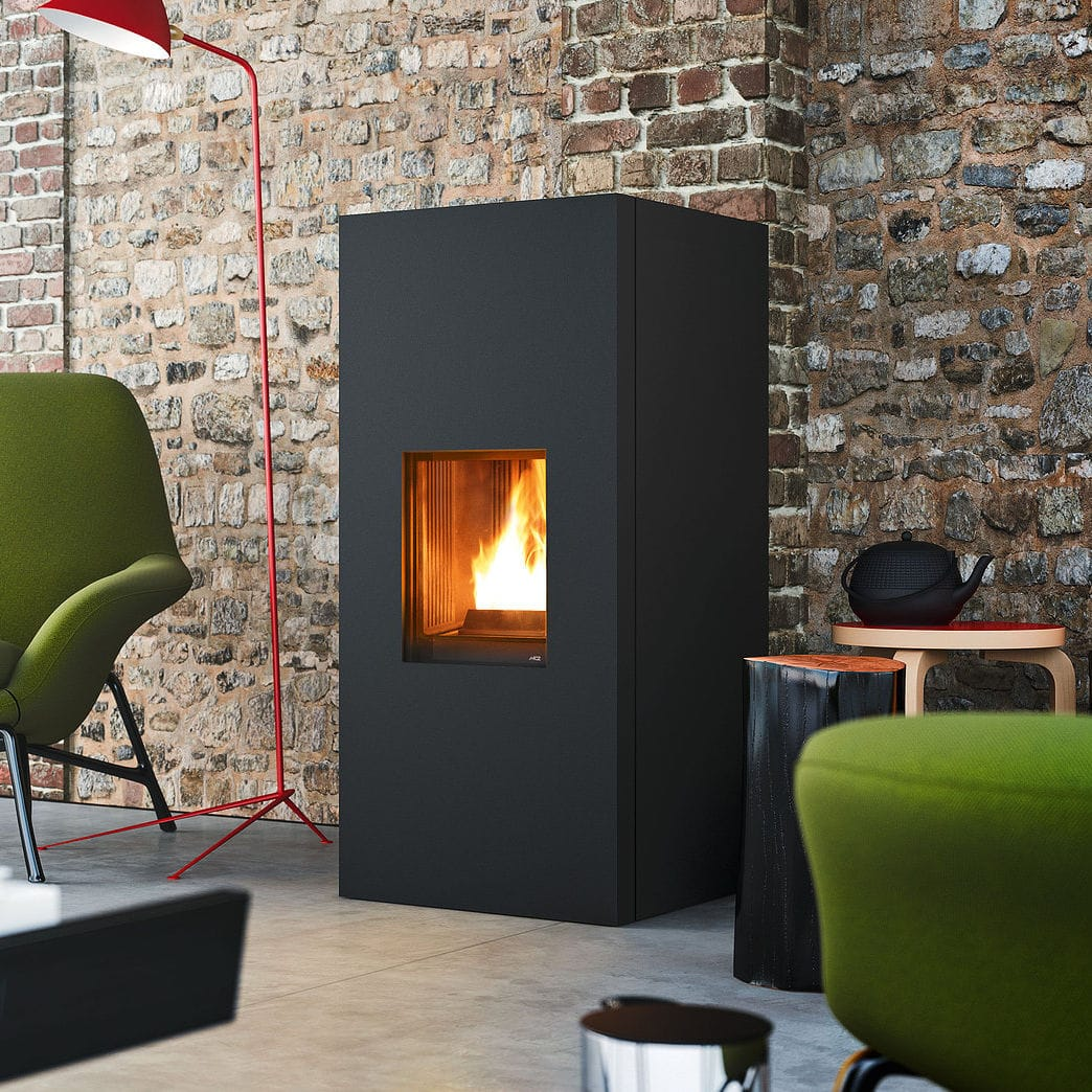 Mcz Cute Pellet Heating Stove Contemporary Steel Aike Mcz