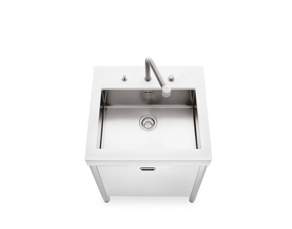 product stainless steel kitchen sink Stainless steel kitchen sink cabinet SINK 70 ALPES INOX