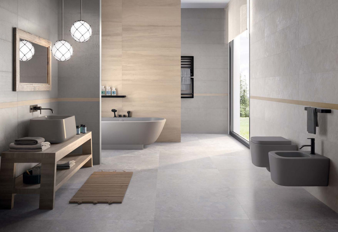 Piastrelle 30x30 Grigio Indoor Tile Wall Porcelain Stoneware 30x30 Cm W All