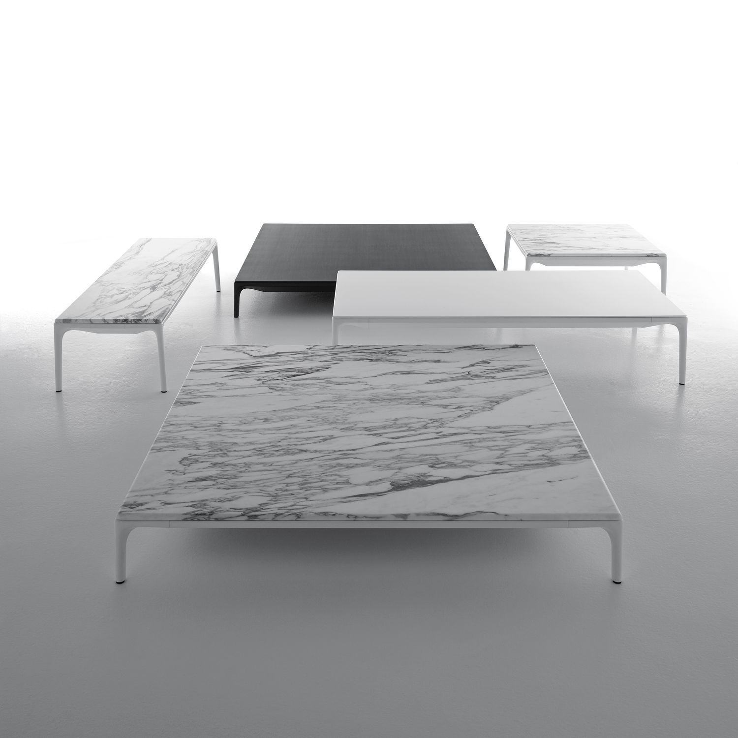 Resin Couchtisch Contemporary Coffee Table Lacquered Aluminum Resin