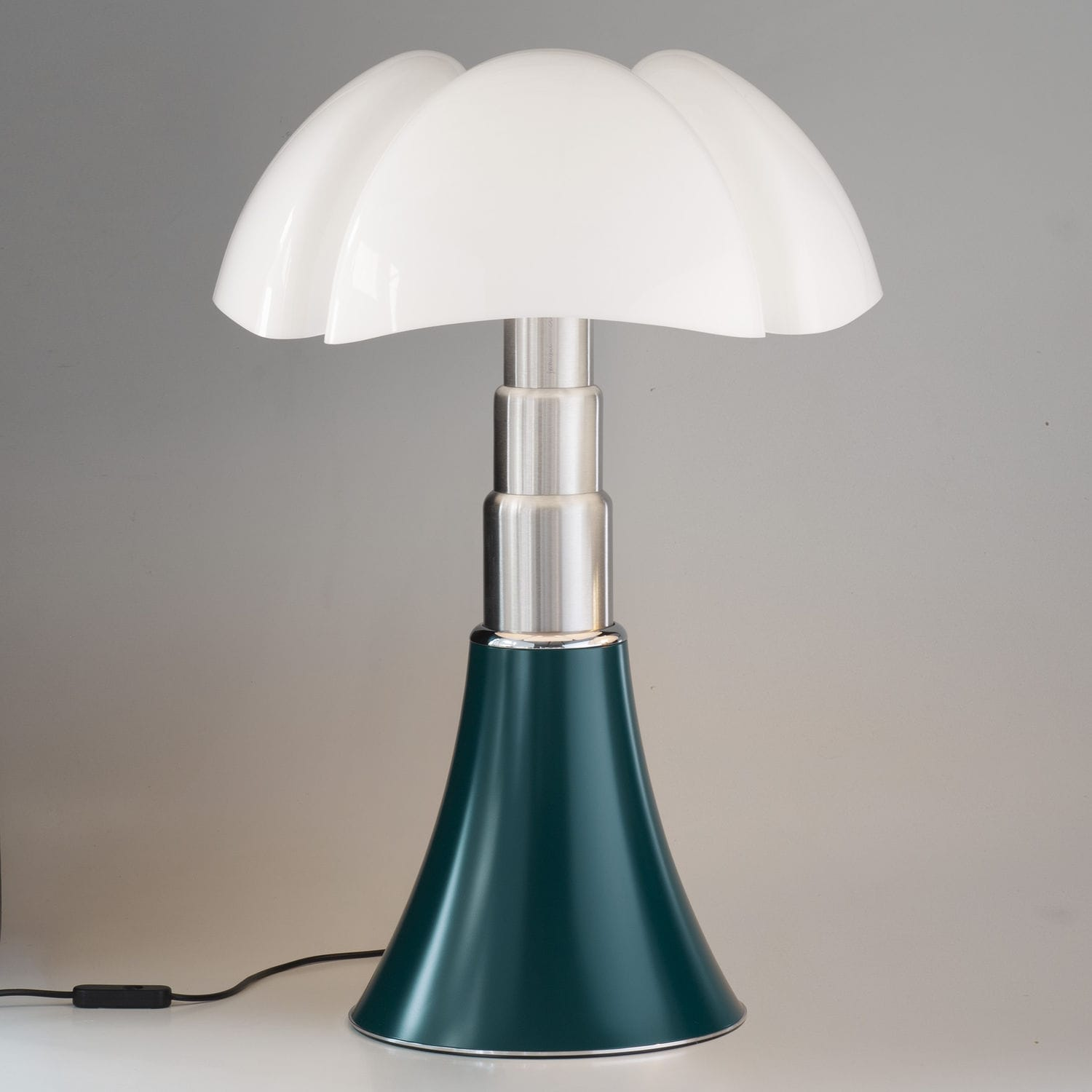 Lampe Pipistrella Table Lamp Contemporary Stainless Steel Lacquered Aluminum