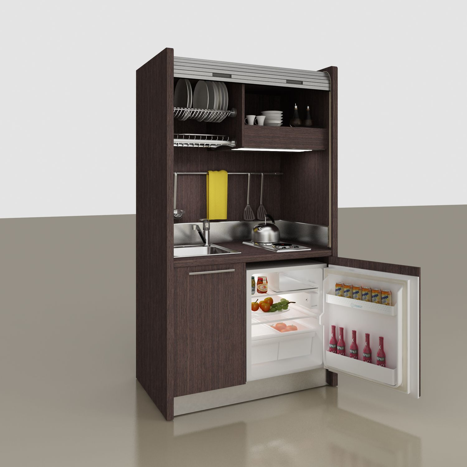 Mini Kitchen Wooden Commercial Kitchen Compact For Offices For Hotel