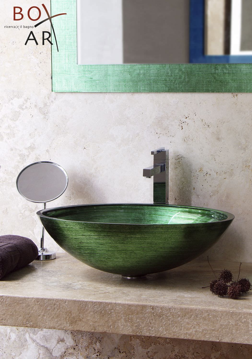 Accessori Bagno Linea G Countertop Washbasin Oval Glass Contemporary