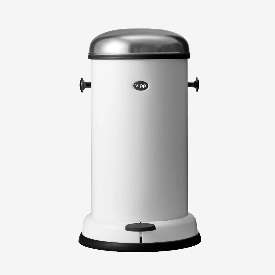 Metal Indoor Trash Can Kitchen Trash Can Stainless Steel Foot Operated Original Design