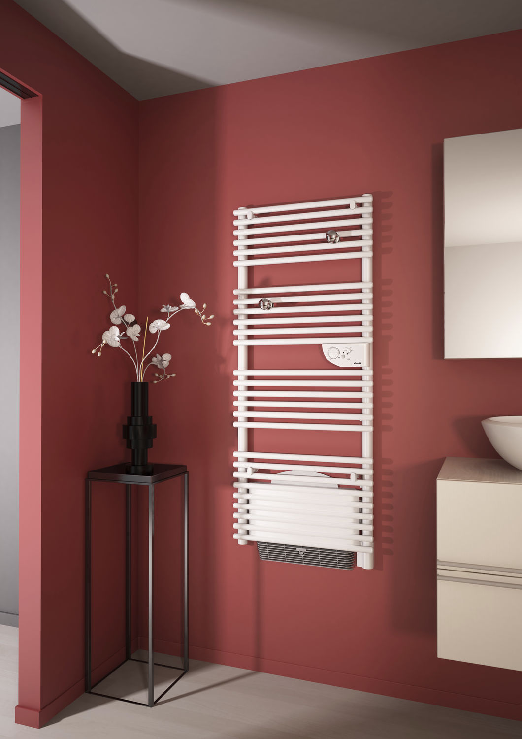 Sauter Venise Pivotant Electric Towel Radiator Thermal Fluid Metal Contemporary