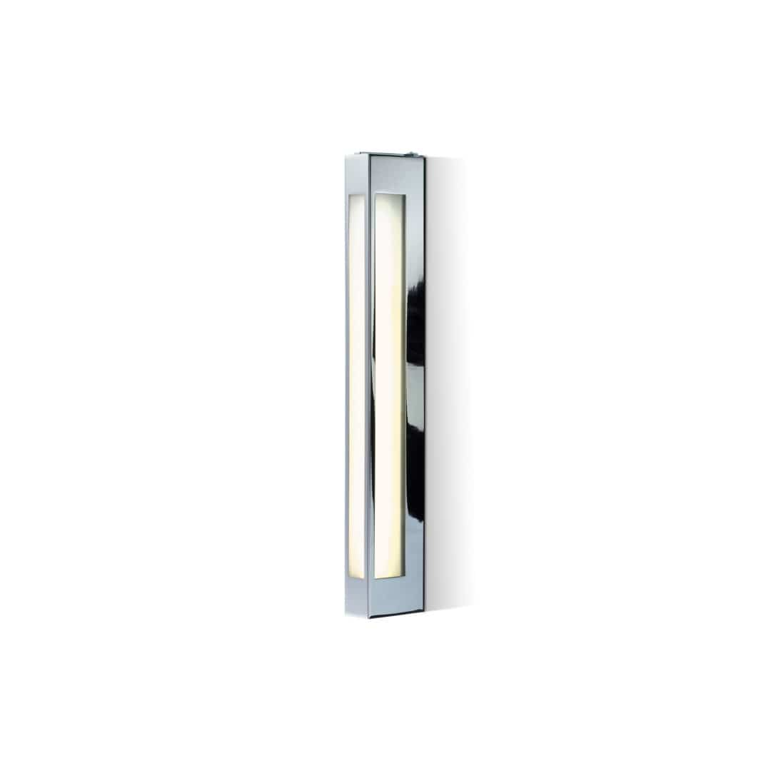 Decor Walther Contemporary Wall Light Chrome Plated Brass Led Rectangular
