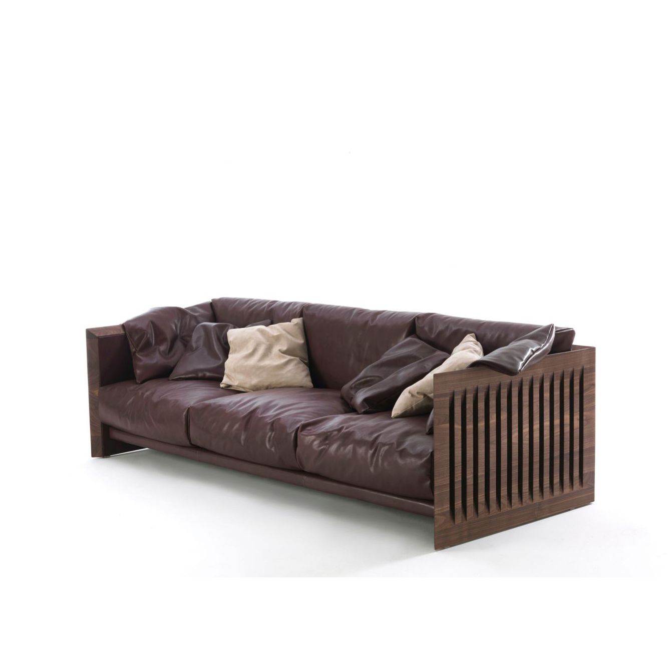 Designer Sofa Holz Contemporary Sofa Leather Wooden By Carlo Colombo