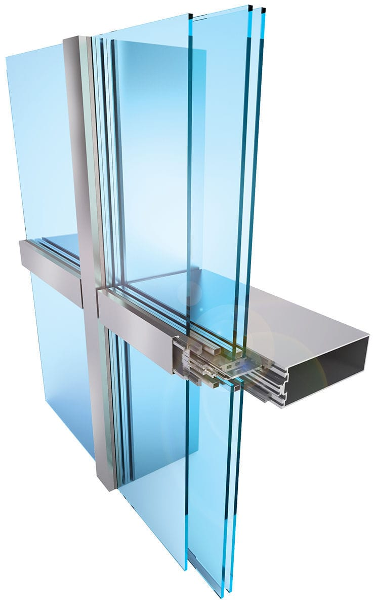 Acoustic Curtain Wall Stick System Curtain Wall Insulated Glass Aluminum And Glass