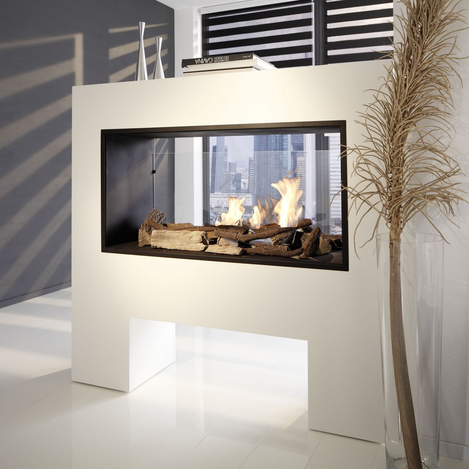Kamine Ingolstadt Bioethanol Fireplace Contemporary Open Hearth Double Sided