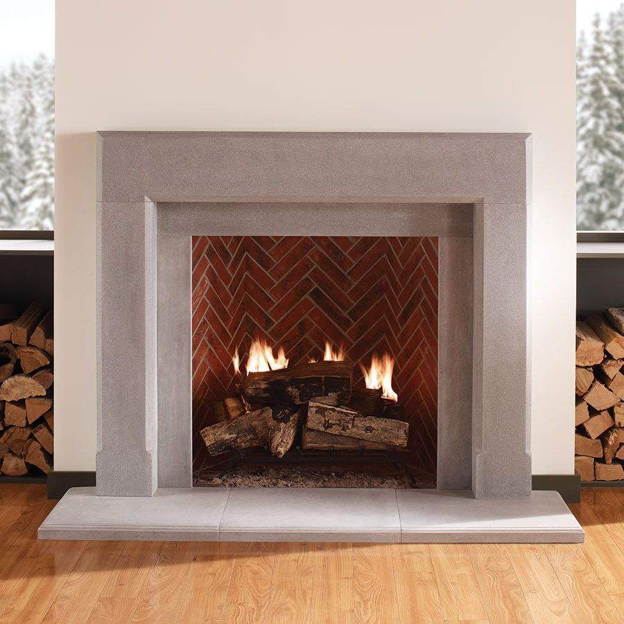 Fireplaces With Stone Surrounding Contemporary Fireplace Surround Stone The Dylan Eldorado Stone