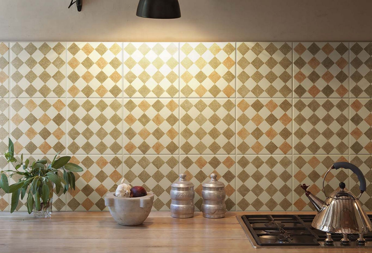Ceramica Bardelli Bathroom Tile Floor Ceramic Geometric Pattern Queen