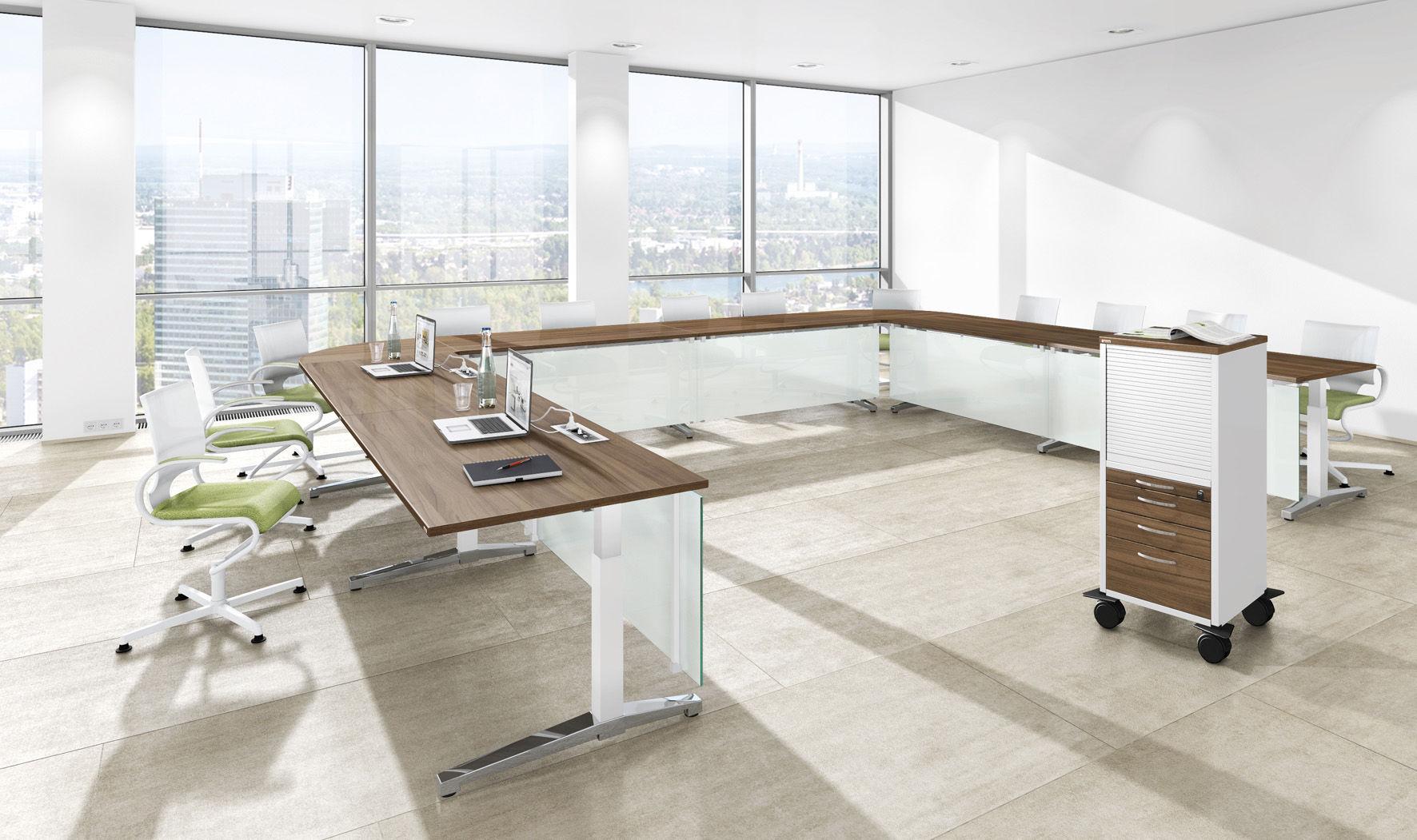 Büromöbel Assmann L Shape Desk Office Corner Desks Double Drawers