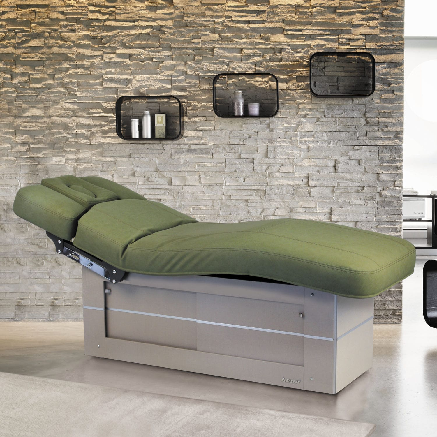 Futon Massage Electric Massage Table With Storage Compartment Wooden