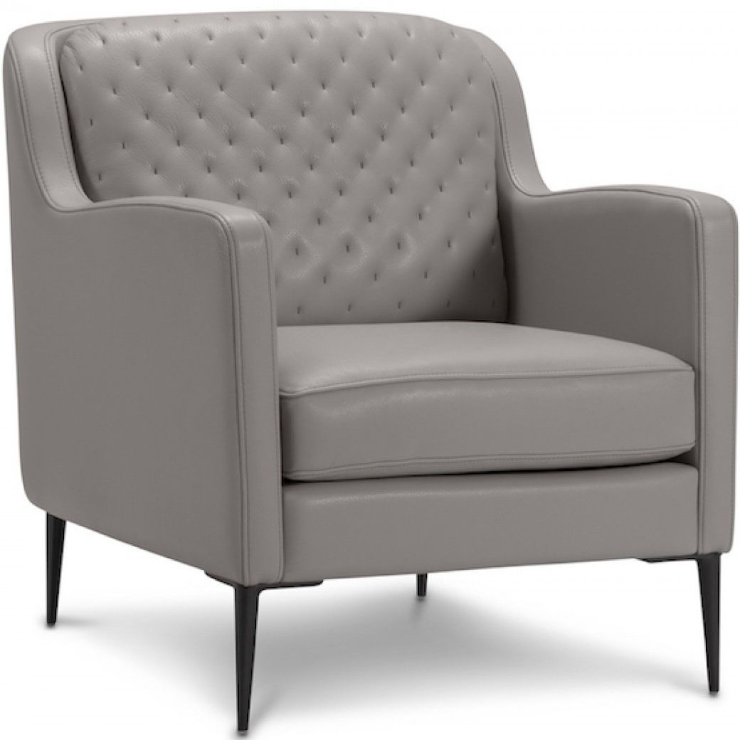 Canape Lounge Duvivier Contemporary Armchair Leather Metal Gray Sophie Duvivier