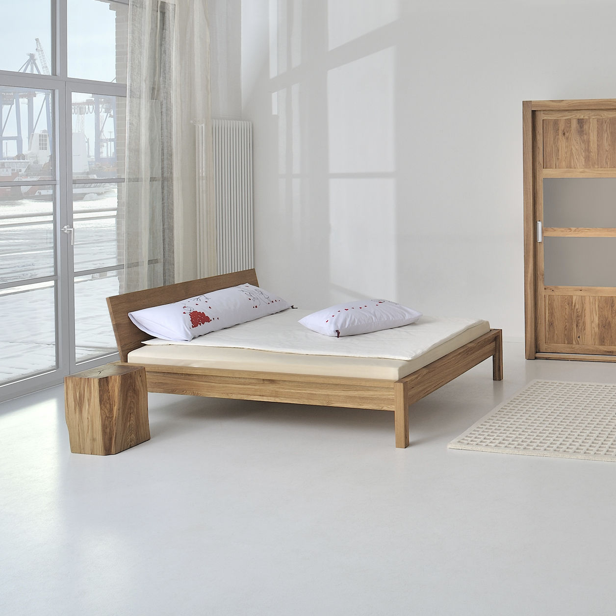 Scandinavian Furniture Bed Double Bed Scandinavian Design With Headboard Custom Cara