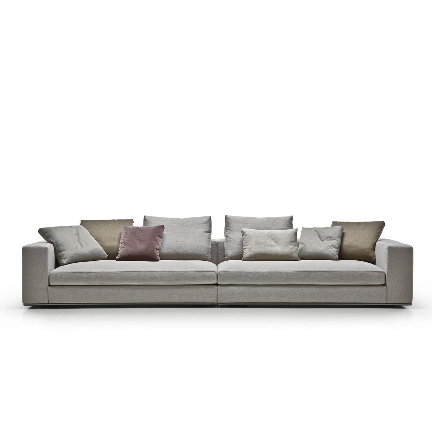 Square Sofa Modular Sofa Contemporary Fabric Leather Square Line Art