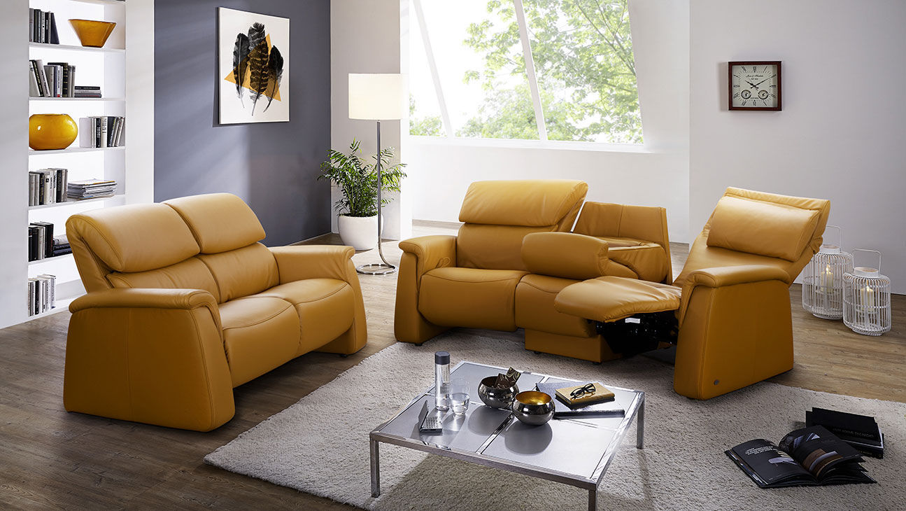 Contemporary Sofa Cumuly 4203 Himolla Polstermöbel Fabric Leather 2 Person