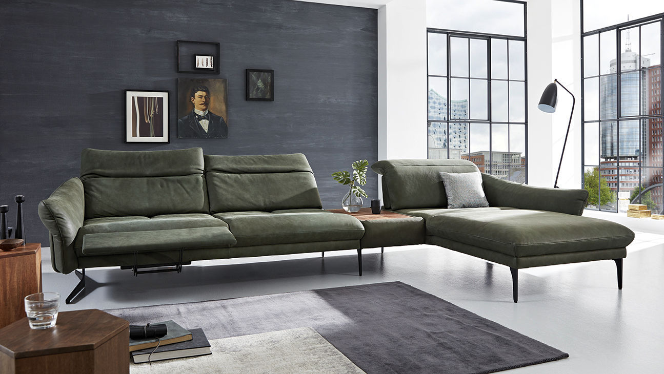 Modular Sofa Promotion 1808 Himolla Polstermöbel Contemporary Leather Metal