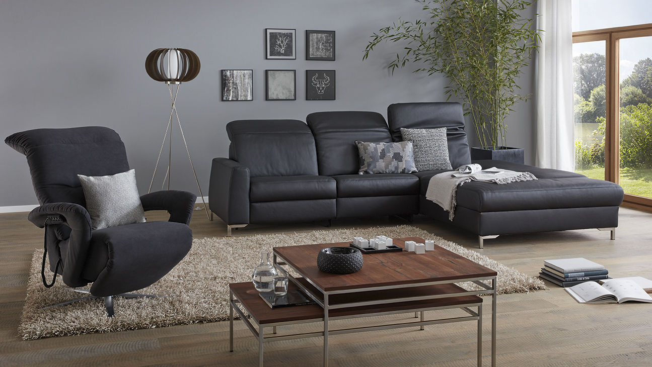 Modular Sofa B2b 1821 Himolla Polstermöbel Contemporary Leather 3 Seater