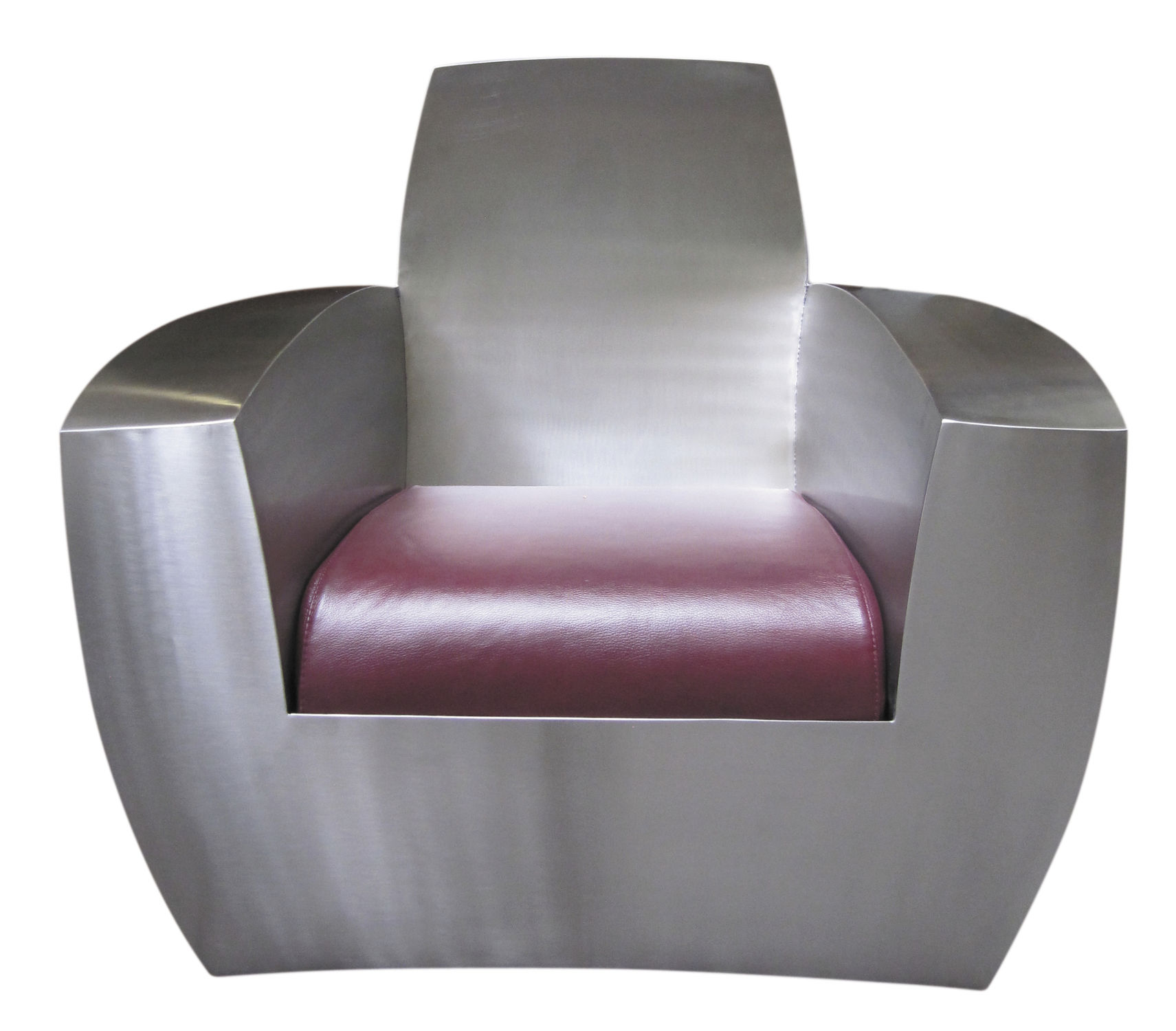 Industrial Sessel Original Design Armchair Leather Stainless Steel With