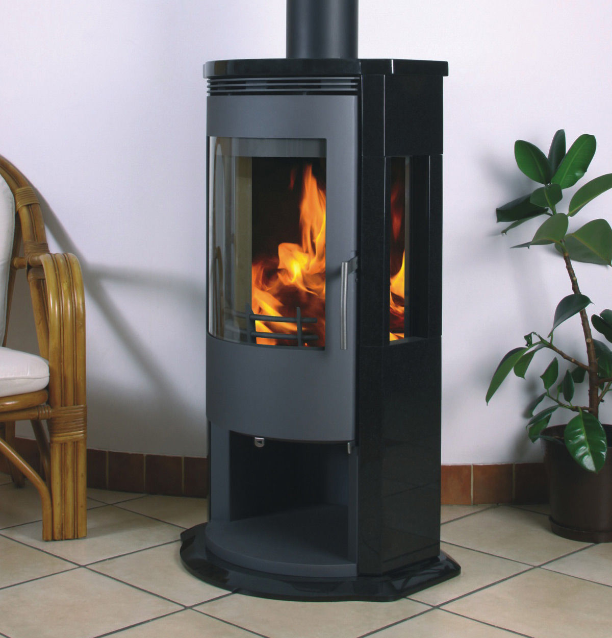 Color Fire Kaminofen Wood Heating Stove Contemporary Natural Stone A3 Arena