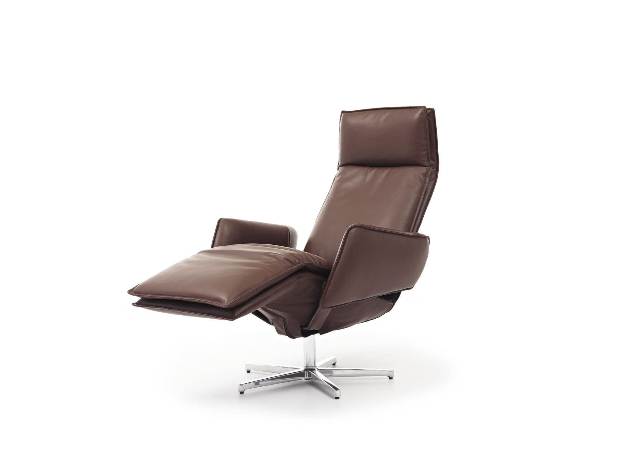 Relaxsessel Modern Contemporary Armchair - Largo - Durlet - Leather / Metal / Wooden