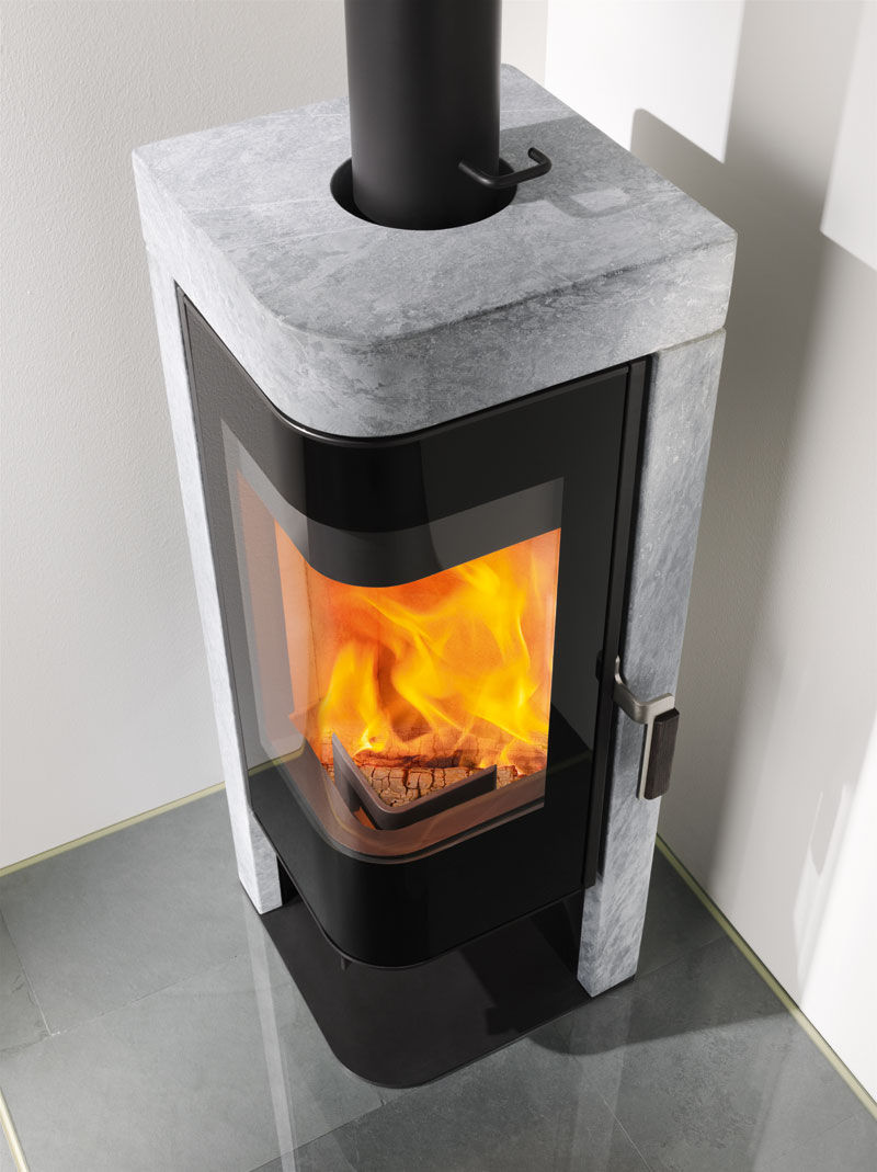 Kaminofen Rika Fox Ii Wood Heating Stove Contemporary Corner Steel Jazz Rika