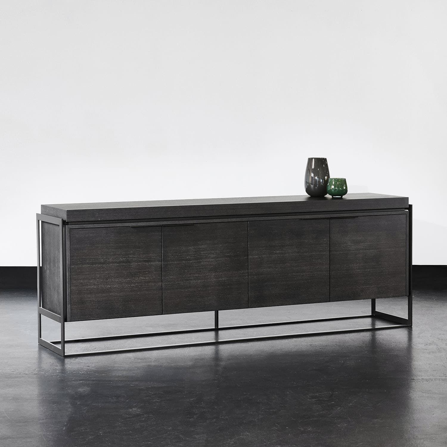 Contemporary Sideboard Bea Xvl Home Collection Wooden Painted Metal Gray