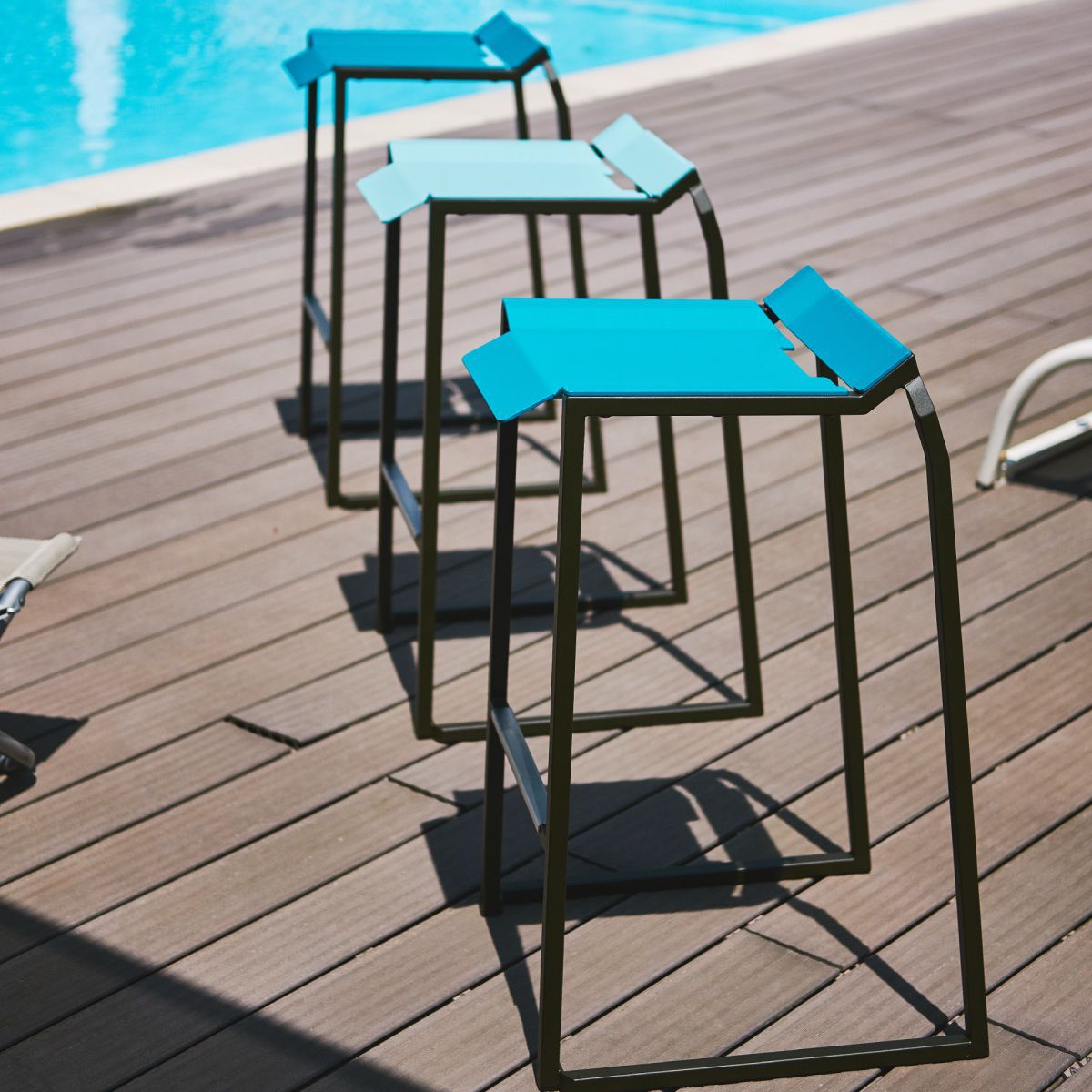 Mobilier Hotel Restaurant Contemporary Stool Metal For Offices For Hotels Tolerie