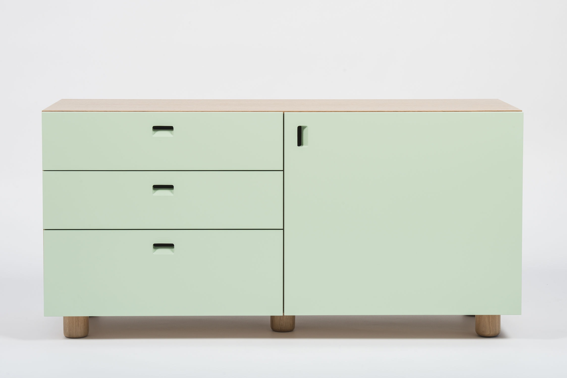 Sideboard 250 Cm Contemporary Sideboard Lacquered Wood Lacquered Mdf Solid Wood