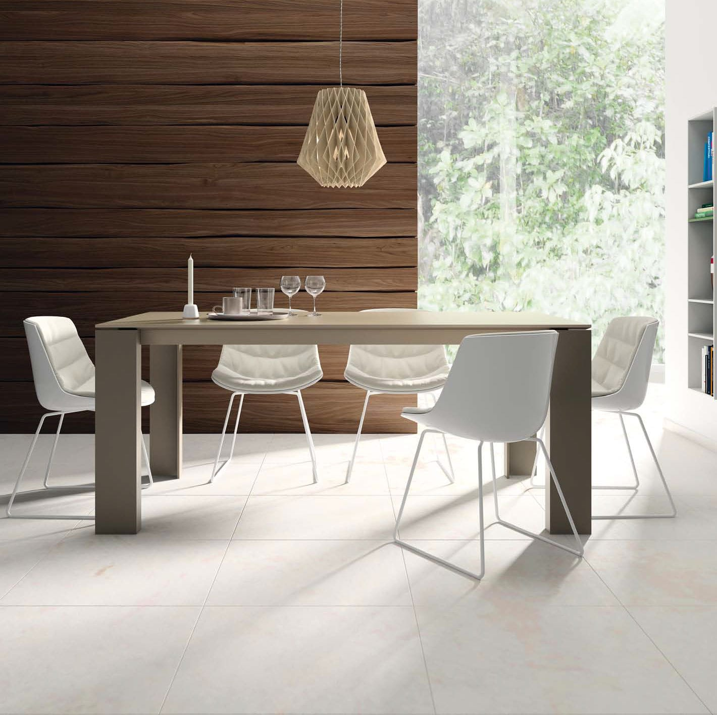 Only Muebles Contemporary Dining Table Wooden Ceramic Lacquered Glass T03 Vive Muebles Verge S L