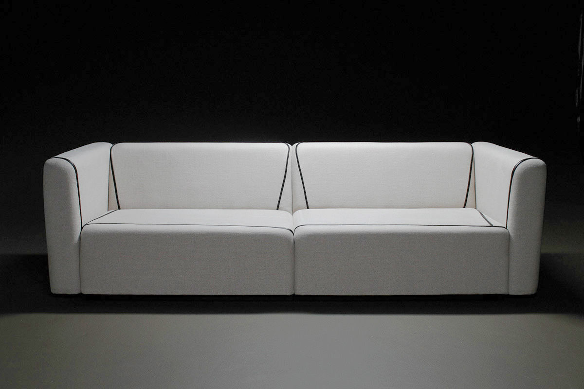 Sofa L 2 X 2 Contemporary Sofa Fabric Leather 2 Person By Laurent