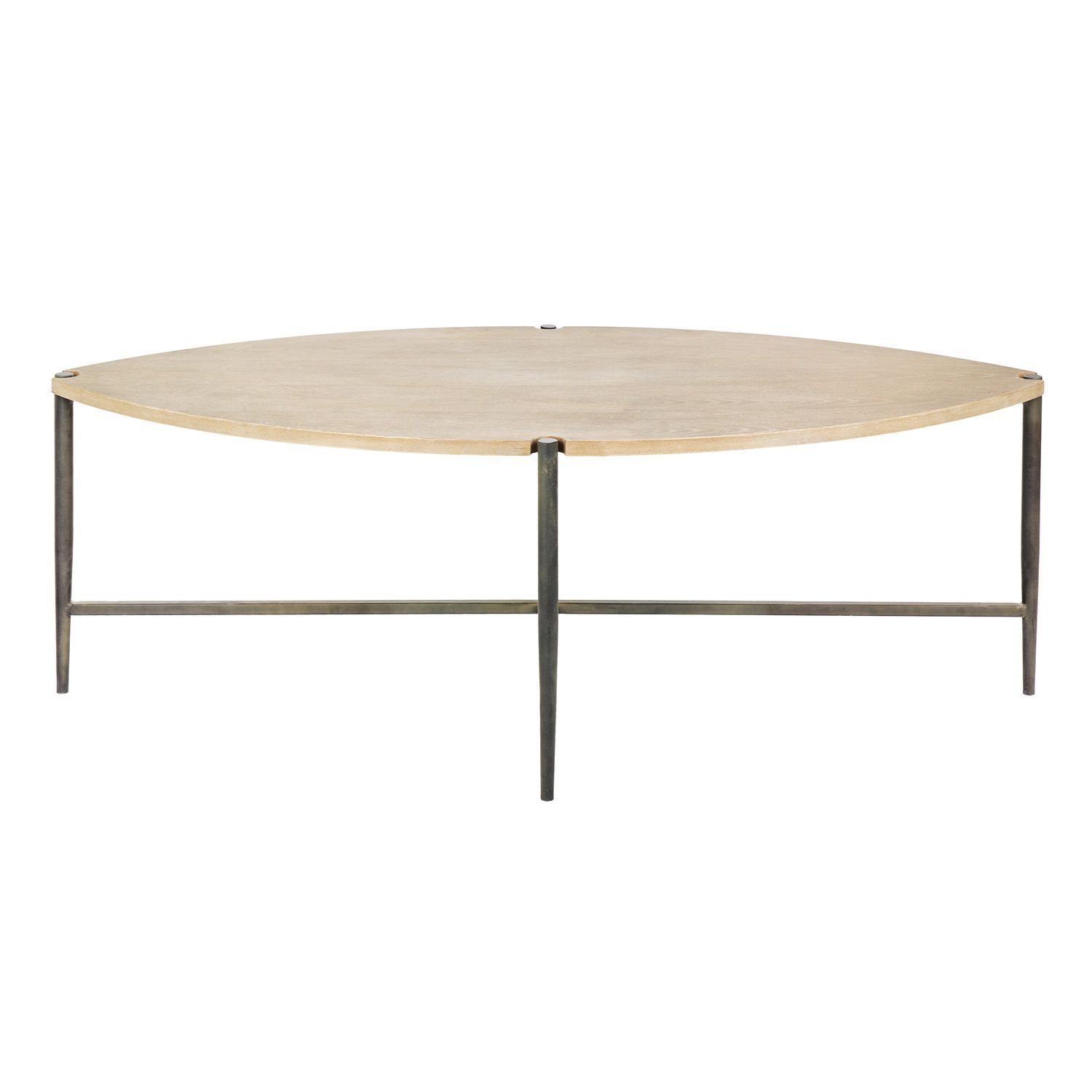 Table Metal Blanc Contemporary Coffee Table Wooden Metal