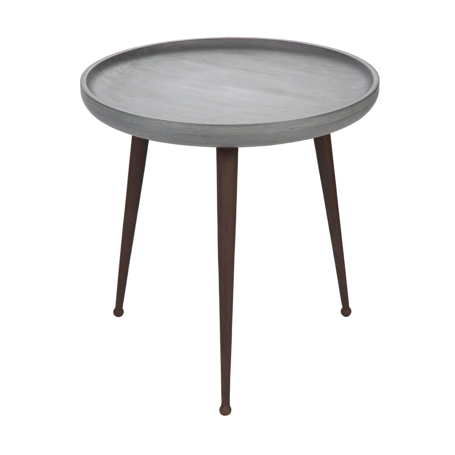 Table Metal Blanc Contemporary Side Table Wooden Metal Round Sam Blanc D