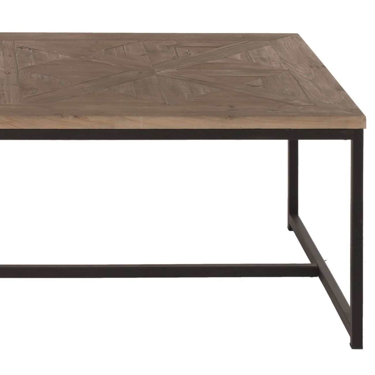 Table Metal Blanc Contemporary Coffee Table Wooden Metal Rectangular Jules