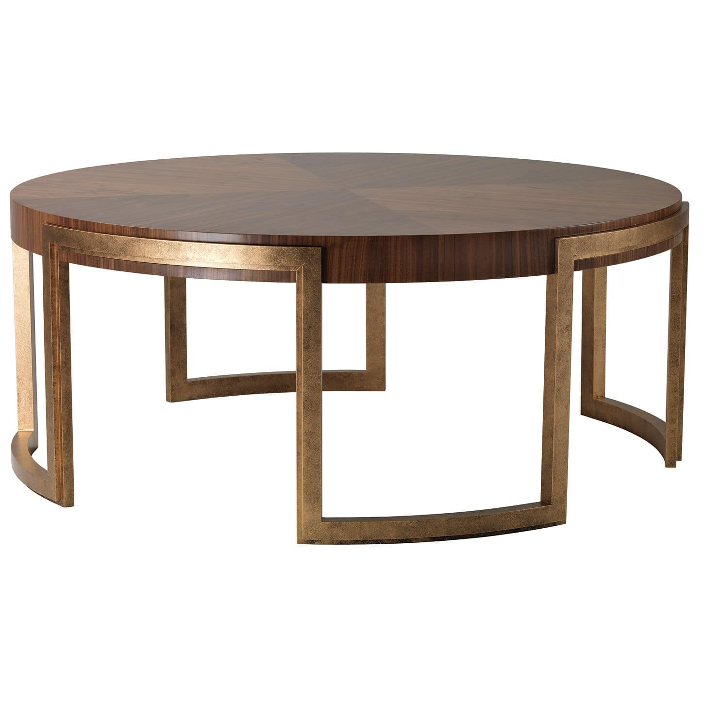 Contemporary Coffee Table Valencia Decorus Walnut Mahogany Round