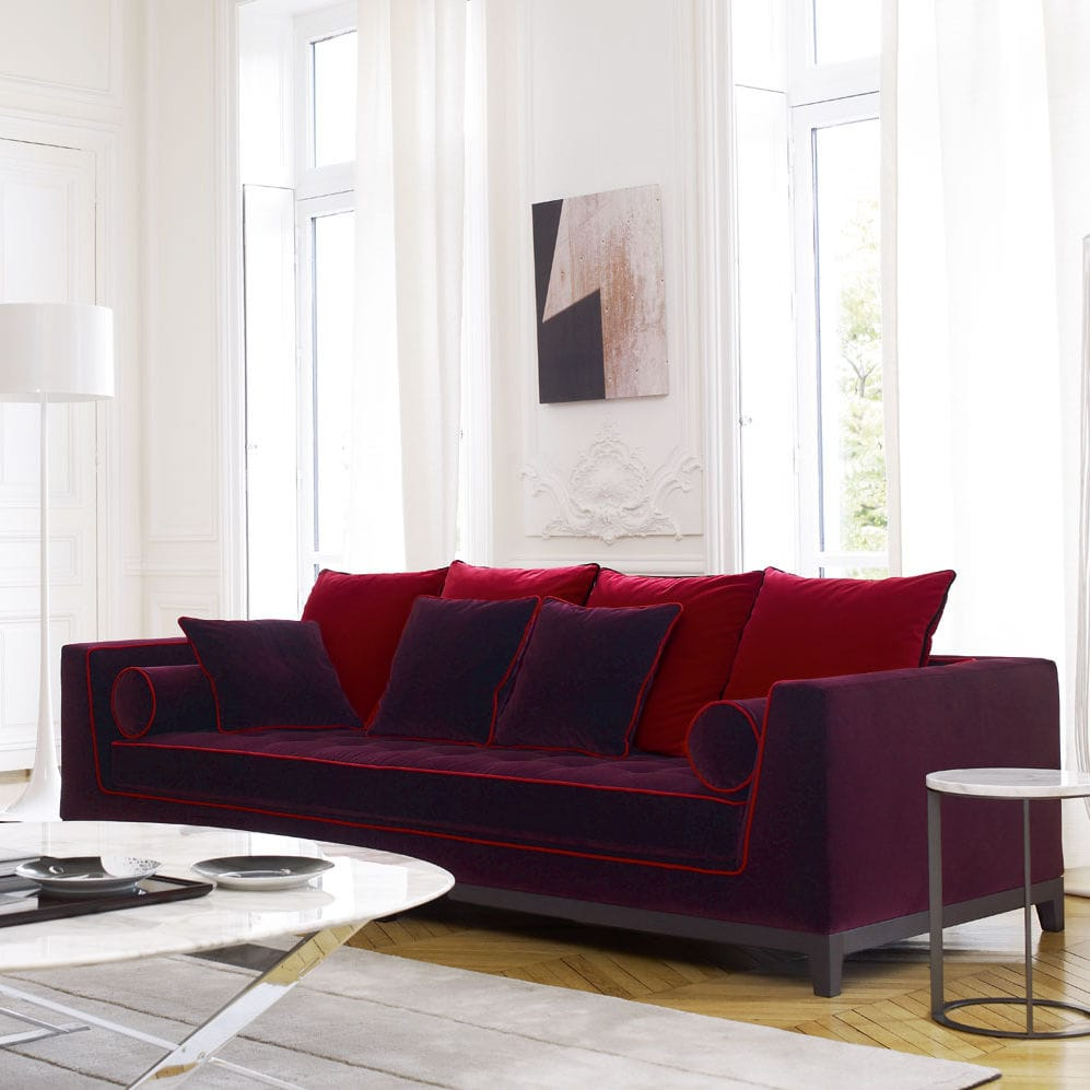 Contemporary Sofa Lutetia Maxalto Leather Fabric By Antonio Citterio