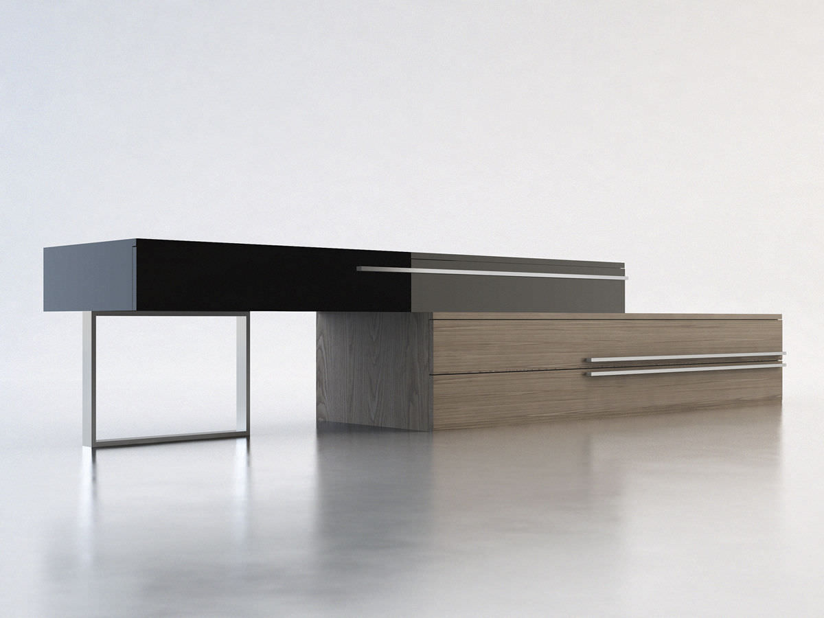 Tv Sideboard Modern Contemporary Sideboard Wooden Lacquered Wood Gramercy Modloft