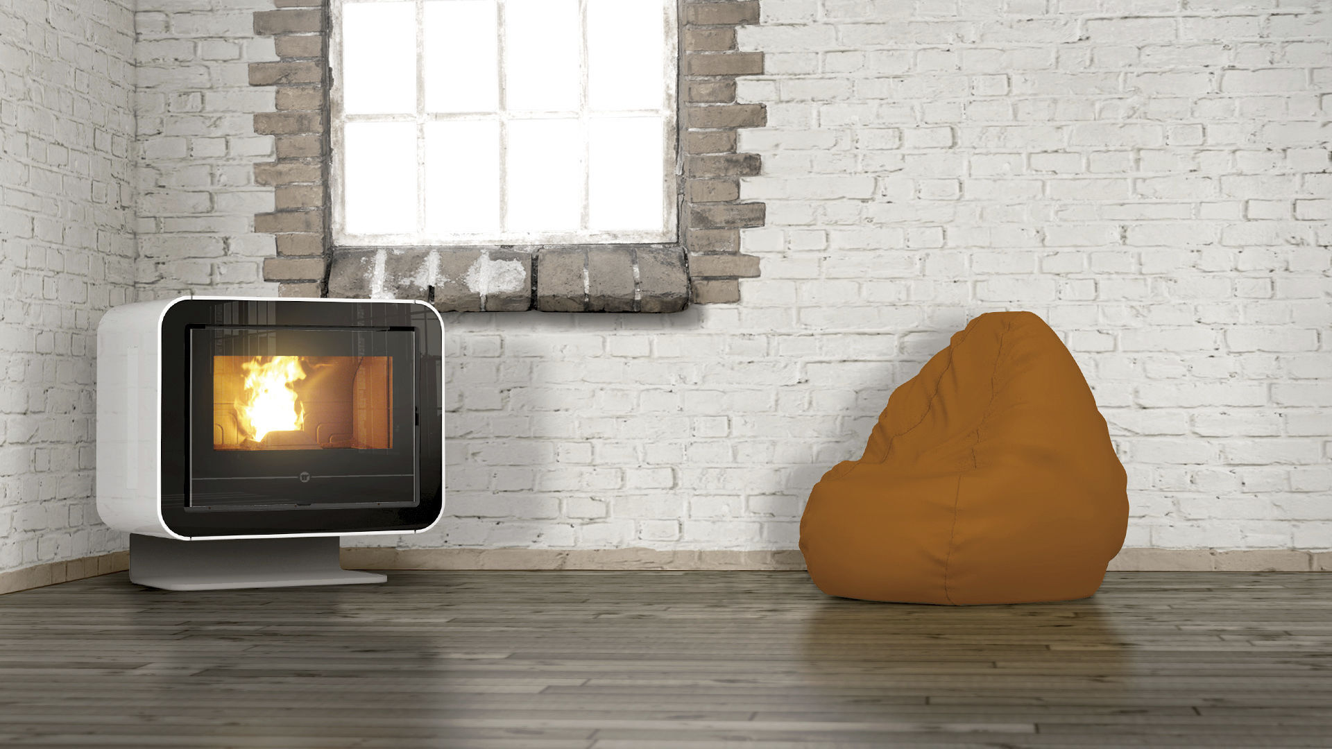 Poele A Pellet Francais Pellet Heating Stove Contemporary Cast Iron Scuba Thermorossi