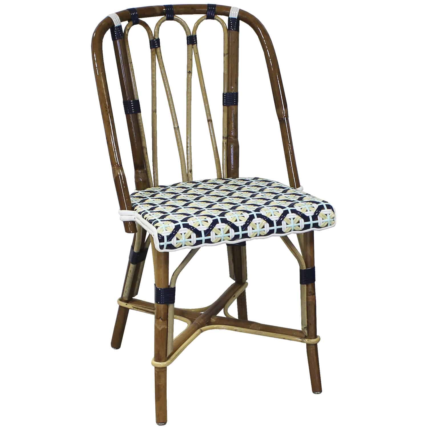 Chaise Metal Bistro Traditional Restaurant Chair Bistro Rattan Brebant Maison